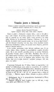 Vransko jezero u Dalmaciji / A. Gavazzi