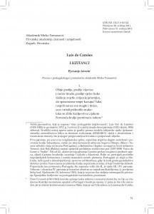 Luzitanci : pjevanje četvrto / Luís de Camoes ; preveo s portugalskoga i protumačio Mirko Tomasović