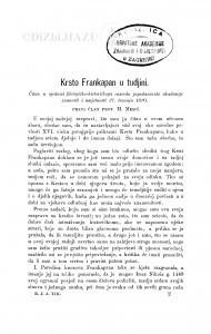 Krsto Frankopan u tudjini / M. Mesić