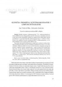 Klinička primjena scintimamografije i limfoscintigrafije / Asja Valković-Mika, Aleksandar Smokvina