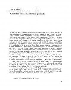 O grafičkim prikazima likovnih spomenika / Radovan Ivančević