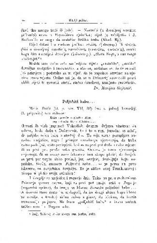 Nastačilo, staličo, svatovski član / M. Stojković