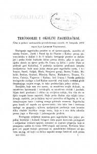 Trećogorje u okolini zagrebačkoj / Lj. Vukotinović