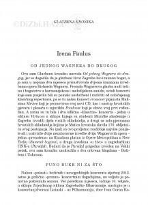 Od jednog Wagnera do drugog : glazbena kronika / Irena Paulus