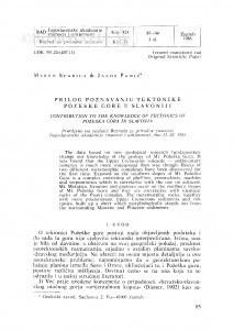 Prilog poznavanju tektonike Požeške gore u Slavoniji / M. Šparica, J. Pamić