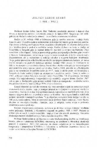 Zoltán Gábor Szabó (1908.-1995.) / Marta Ferenc