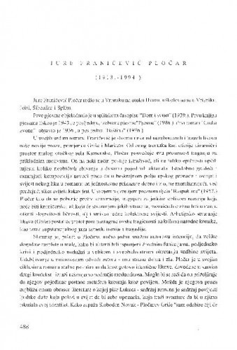 Jure Franičević Pločar : (1918.-1994.) / Tomislav Sabljak