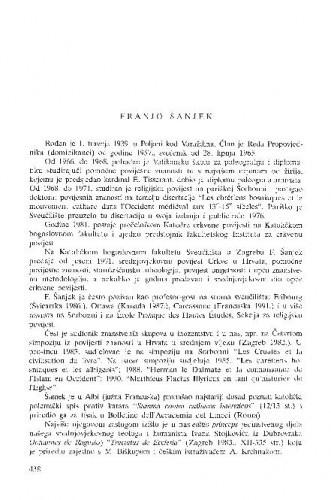 Franjo Šanjek