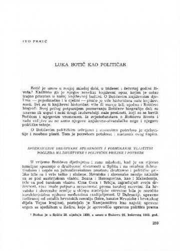 Luka Botić kao političar / Ivo Perić
