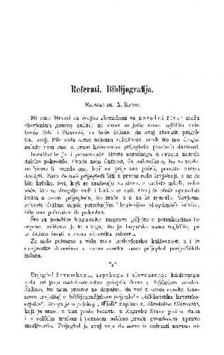 Referati. Bibliografija / A. Radić