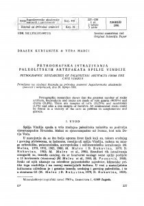 Petrografska istraživanja paleolitskih artefakata spilje Vindije / D. Kurtanjek, V. Marci