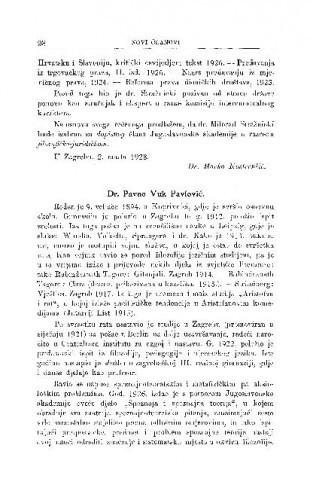 Dr. Pavao Vuk Pavlović / A. Bazala