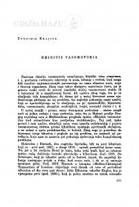 Rhinitis vasomotoria / Z. Krajina