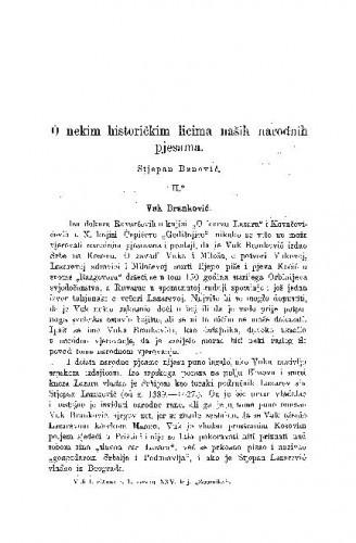 O nekim historičkim licima naših narodnih pjesama / S. Banović
