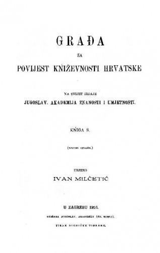 Knj. 8(1915) / uredio Ivan Milčetić