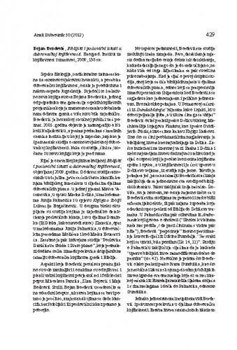 Bojan Đorđević, Biblijski i poslovični iskazi u dubrovačkoj književnosti. Beograd: Institut za književnost i umetnost, 2009 : [prikaz] / Lahorka Plejić Poje