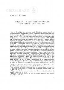Utjecaji patristike u ranom bogumilstvu i islamu / M. Brandt