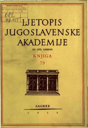 1975. Knj. 79 / urednik Hrvoje Požar