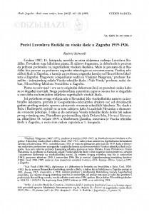 Pozivi Lavoslavu Ružički na visoke škole u Zagrebu 1919-1926 / R. Seiwerth