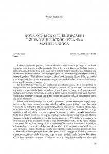 Nova otkrića o tijeku borbe i fizionomiji pučkog ustanka Matije Ivanića / Marin Zaninović