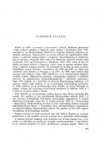 Zvonimir Pavišić : [biografije novih članova Akademije]