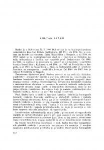 Zoltan Szabo : [biografije novih članova Akademije]