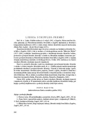 Ljerka Schiffler-Premec