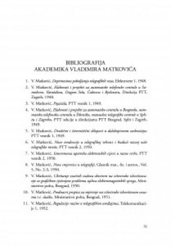 Bibliografija akademika Vladimira Matkovića
