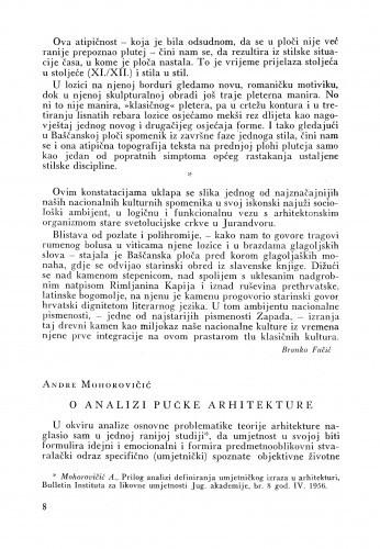 O analizi pučke arhitekture / Andre Mohorovičić