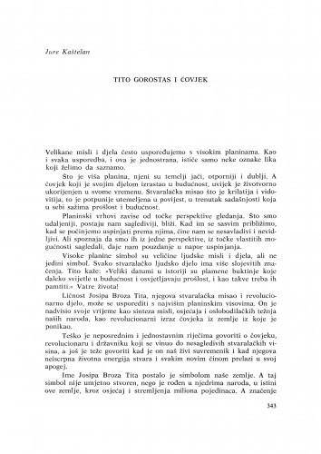 Tito gorostas i čovjek / J.Kaštelan
