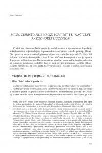 Miles christianus kroz povijest i u Kačićevu Razgovoru ugodnom / Josip Grbavac