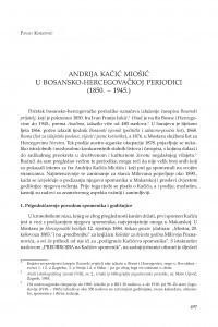 Andrija Kačić Miošić u bosansko-hercegovačkoj periodici (1850. - 1945.) / Pavao Knezović