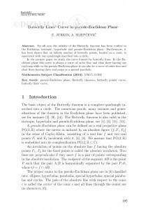 Buttery lines' curve in pseudo-Euclidean plane / E. Jurkin, A. Sliepčević