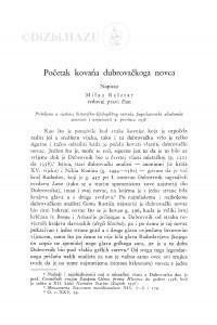 Početak kovańa dubrovačkoga novca / M. Rešetar