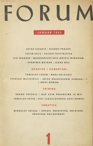 God. 2(1963), knj. 3, br. 1 / glavni i odgovorni urednik Marijan Matković