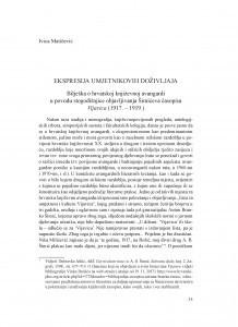 Ekspresija umjetnikovih doživljaja : bilješka o hrvatskoj književnoj avangardi u povodu stogodišnjice objavljivanja Šimićeva časopisa Vijavica (1917.- 1919.)