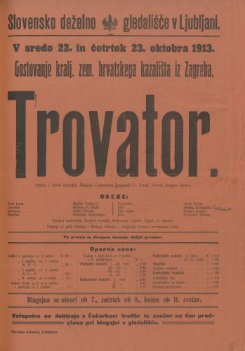 Trovator Opera v štirih dejanjih