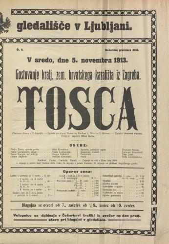 Tosca Glazbena drama v 3 dejanjih