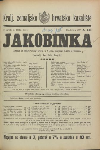 Jakobinka : Drama iz dubrovačkog života u 4 čina