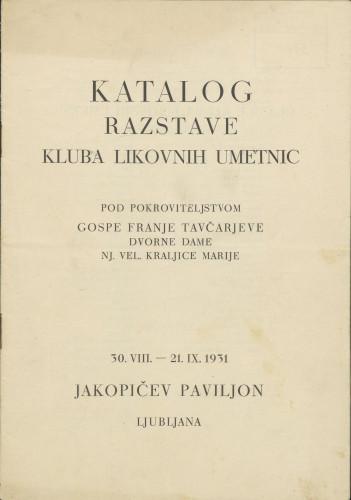 Katalog razstave Kluba likovnih umetnic