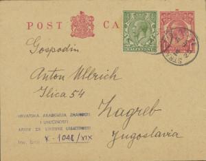 Dopisnica Naste Rojc Antunu Ullrichu, Stratfield Saye, 13.1.1925.
