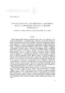 Funkcionalna topometrija grudnog koša i grudnih organa u malih preživača / U. Bego