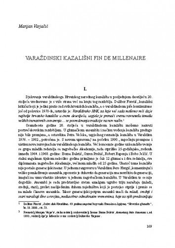 Varaždinski kazališni fin de millenaire / Marijan Varjačić