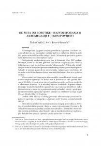 Od mita do robotike - razvoj spoznaja o akromegaliji tijekom povijesti / Živko Gnjidić, Stella Fatović-Ferenčić