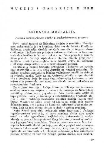 Brionska muzealija : postava sredovjekovne zbirke u sredovjekovnom prostoru / Vanda Ekl