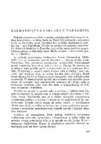 Zakmardijeva zaklada u Varaždinu / Mladen Fučić