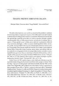 Šenoini prepjevi Erbenovih balada / Marijan Šabić