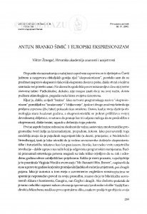Antun Branko Šimić i europski ekspresionizam / Viktor Žmegač
