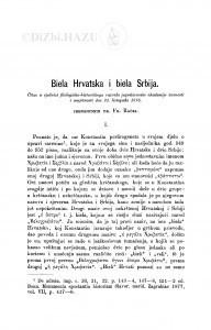 Biela Hrvatska i biela Srbija / F. Rački