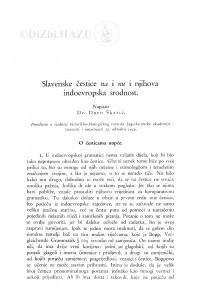 Slavenske čestice na i nu i njihova indoevropska srodnost / Đ. Škarić